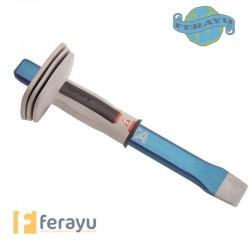 Cortafrío octogonal con protector para apertura de rozas 8251300CP (Bellota)