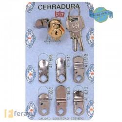 KIT CERRADURA Nº2 R-60004 BTV DORADO