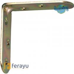 Ángulo de refuerzo bicromatado con canto redondo 60 mm (Amig)