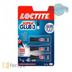 Super Glue-3 Líquido Mini Trio 3x1 gr (Loctite)