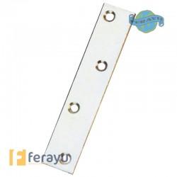 Placa de refuerzo de acero zincado 57x16 mm (Amig)