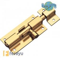 Pasador de sobreponer latonado barnizado 60x30 mm (Amig)