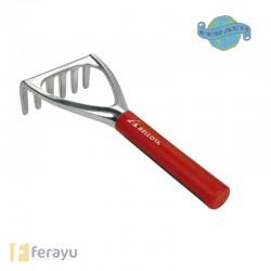 Rastrillo de aluminio 6 púas metálico con mango corto 3006 (Bellota)