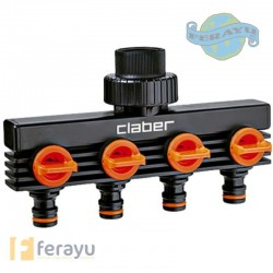CONECTOR CUATRO TOMAS 3/4 8581.CLABER