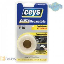 CINTA REPARATODO CEYS 3MX25MM TRANSP.