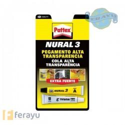 PEGAMENTO NURAL-3 ALTA TRANS.22ML.PATTEX