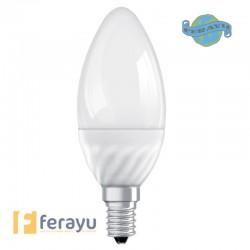 LAMPARA VELA LED E14 MATE 2700K 6W OSRAM