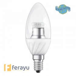 LAMPARA VELA LED E14 CLARA 2700K 6W OSRA
