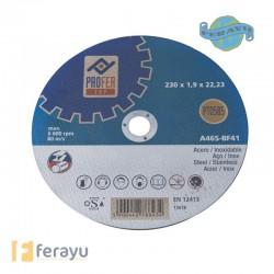 DISCO C. INOX 115X1,6MM PROFER PT0581PRO