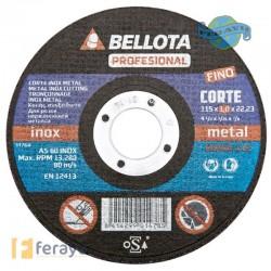 DISCO C METAL/INOX EJE FINO 115X1 MM