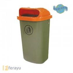 PAPELERA PLASTICO DIN 30713 50 L