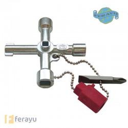 LLAVE ARMARIOS GAS/AGUA/ELECTR PT0042