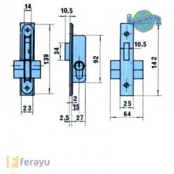 CERRADURA EMBUTIR METALICA 5552-N 15
