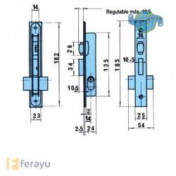 CERRADURA EMBUTIR METALICA 5551/AA-14