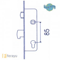 CERRADURA INOX RODILL 25MM 2246/25/3AI