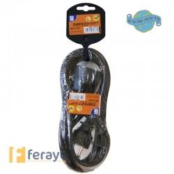 PROLONGADOR CABLE 3M NEG 16A 3X1,5 MM