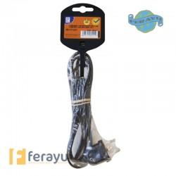 PROLONGADOR CABLE C/INT NEG 1,5 M