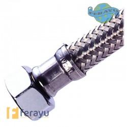 CONEXION FLEX INOX M3/8-H1/2 30 CM