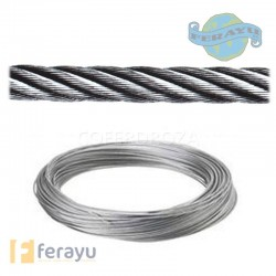CABLE SIRGA GALV R/20 MT 6X7+1 5MM