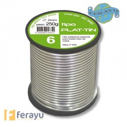 ESTAÑO-PLATA FONTA 6% 2MM 250 G