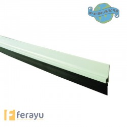 BURLETE PVC-CEPILLO BLANCO 105 CM