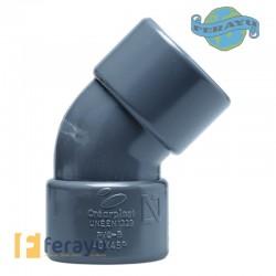 CODO PVC H H 45º CHH-04 40 MM