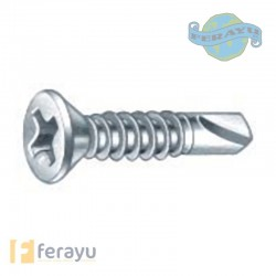 TORNILLO BROCA DIN7504P ZN 4,8X25 MM