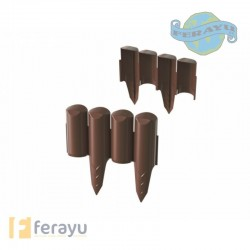 BORDURA PLCO CHOCOLATE SET10UN 2,5MTX13C
