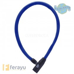 CANDADO CABLE BICI JUNIOR AZUL 60 CM