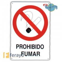 SEÑAL FIJA PROHIBIDO FUMAR 40X30 CM