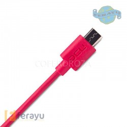 CONEXION USB-MICRO USB CEREZA 1 M