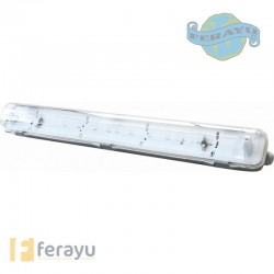 PANTALLA FLUOR ESTANCA LED 2X60 W
