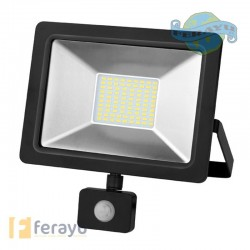 FOCO LED NEGRO IP65 1000L SENS 10 W