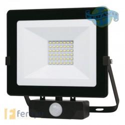 FOCO LED NEGRO IP65 C/SENSOR 30 W