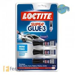 Super Glue-3 Líquido Mini Trio 3x1 g (Loctite)