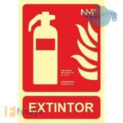 SEÑAL EXTINTOR PVC CLASE B 210X300MM