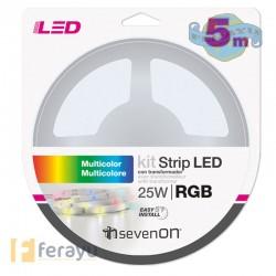 TIRA LED KIT MANDO COLOR RGB 5 M