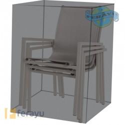 FUNDA PVC CUBRE SILLAS APILABL 66X66X109