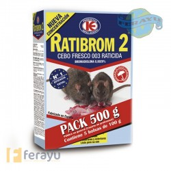 RATICIDA CEBO FRESCO PACK 500 G