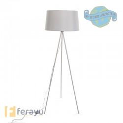 LAMPARA PIE BLANCA E27 60W 48X48X155