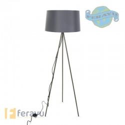 LAMPARA PIE GRIS E27 60W 48X48X155
