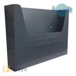 BUZON PUBLICIDAD GRIS 355X255X85