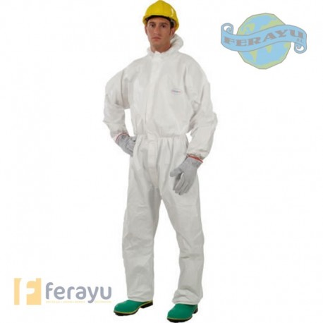 Buzo Partiguard con capucha de color blanco (STS-Protección)