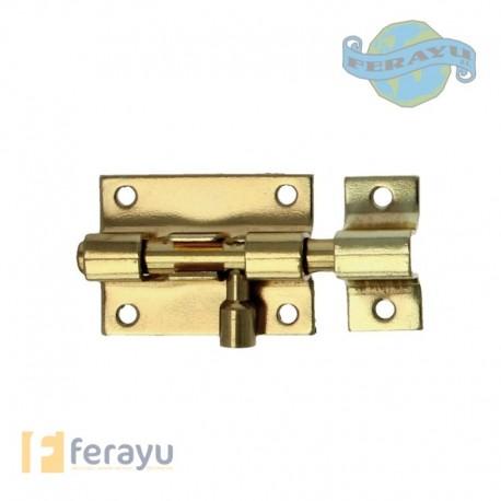 Pasador de sobreponer latonado barnizado 30x28 mm (Amig)