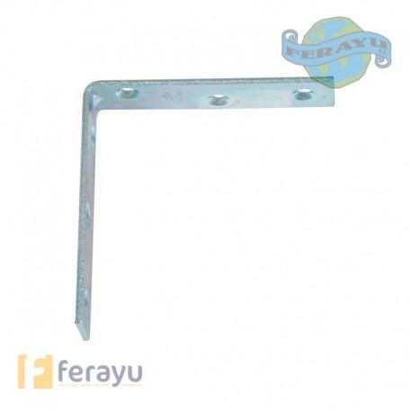 Ángulo de refuerzo de acero zincado 60 mm (Amig)
