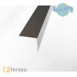 Ángulo de aluminio acabado plata 30x30 mm longitud 2 metros (Dicar)
